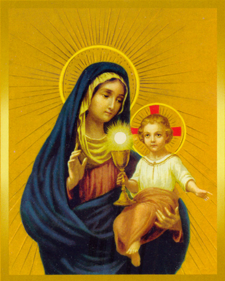 Image result for mary and the eucharist