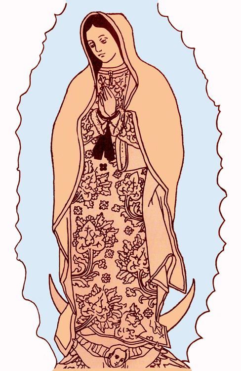 our lady of guadalupe coloring page malikna
